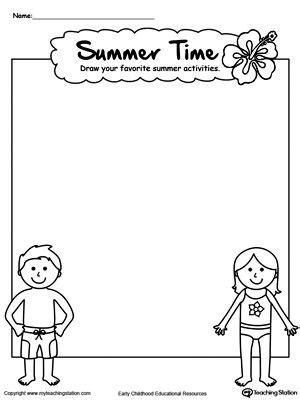 drawing summer activities printable worksheet fun summer