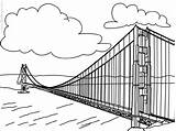 Bridge Coloring Gate Golden Pages Sheet Template 81kb 600px sketch template