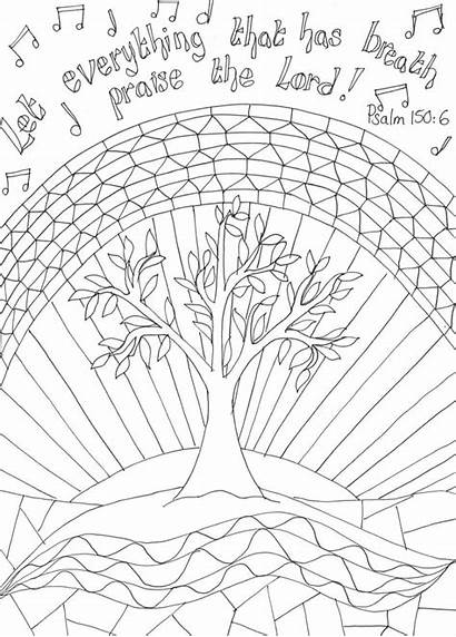 Worship Praise Let Coloring Pages Psalm Colouring