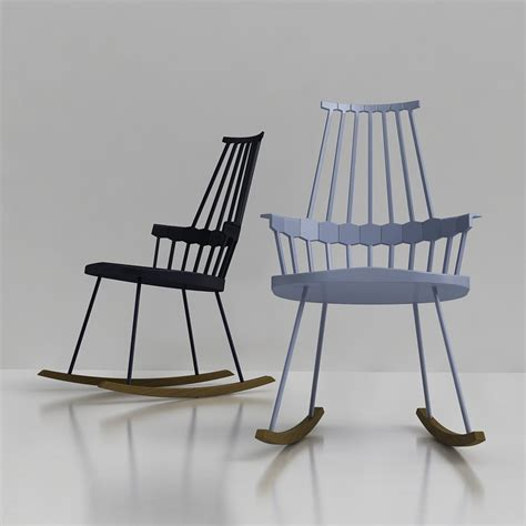 3d kartell comback rocking chair high quality 3d models