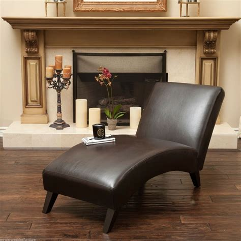 livingroom chaise living room furniture contemporary brown leather chaise