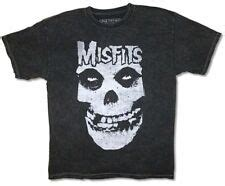 Misfits Distressed Fiend Skull Logo Stonewashed Black T ...