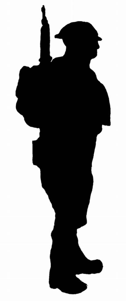 Soldier Silhouette Ww1 War Rifle Soldiers Clipart