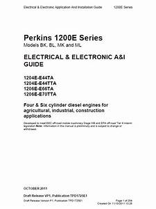 Download Perkins Engines 1200e Electrical Electronic Guide