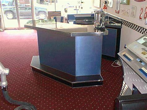 Rick's Basement Bar: Angled, Custom Built, Commercial Quality