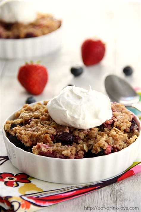 flashback friday blueberry strawberry crumble eat