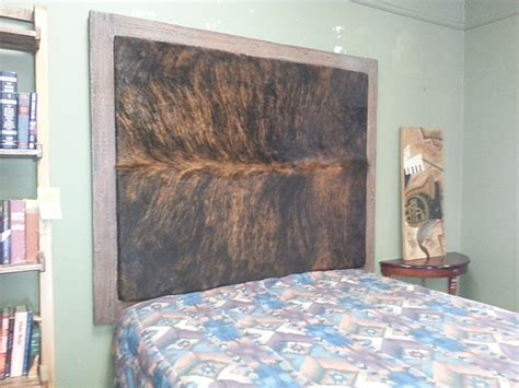 Cowhide Headboards by Faux Wood Frame Cowhide Headboard Finewoodworking