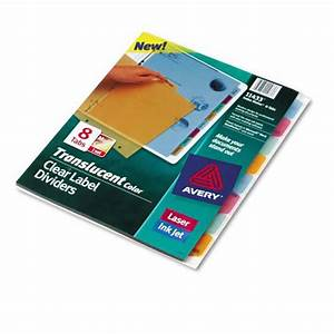 index makerr translucent dividers w clear tab labels 8 With 8 tab labels