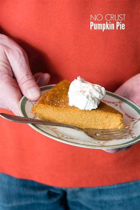 Pumpkin Pie Without Crust Healthy by Pumpkin Pie Without Crust Recipe