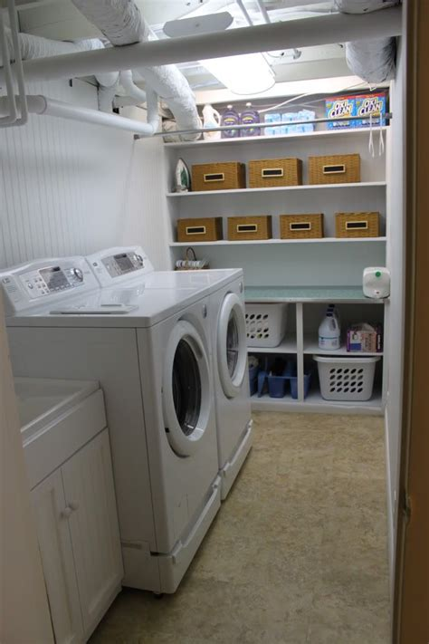 Unfinished Basement Laundry Room Ideas October 2018