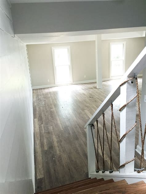 """""""How To"""" Shiplap Wall & Open Pipe Shelving - Addison's"""