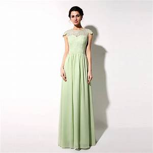 aliexpresscom buy sage chiffon dress long bridesmaid With long wedding party dresses