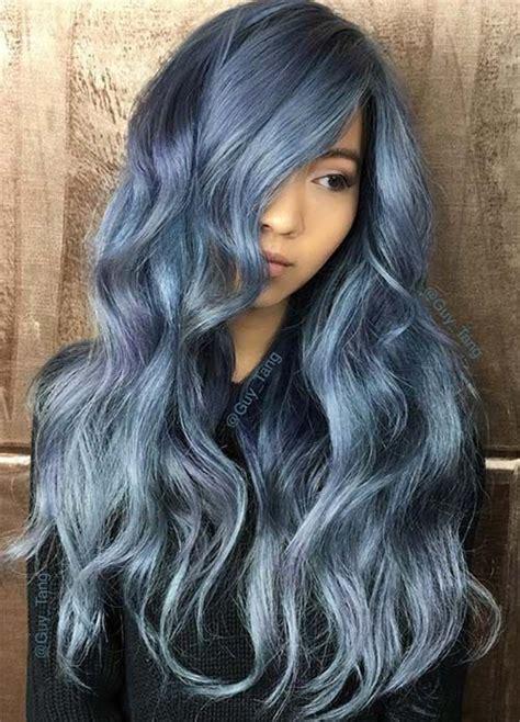 Best 25 Silver Blue Hair Ideas On Pinterest Blue Grey