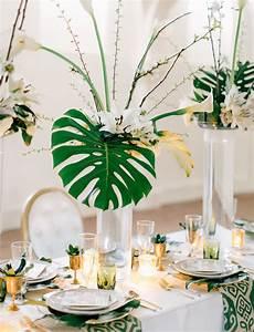 Deco Table Tropical : modern art deco wedding inspiration green wedding shoes ~ Teatrodelosmanantiales.com Idées de Décoration