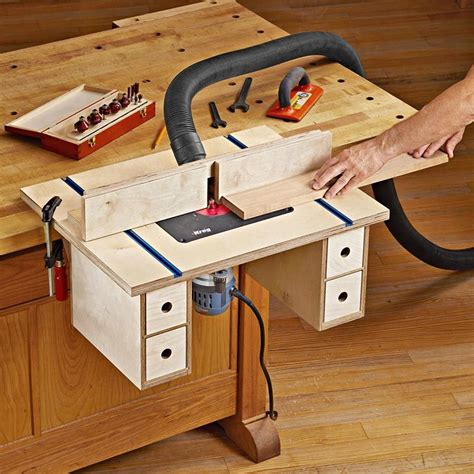 bench mounted router table plan  wood magazine