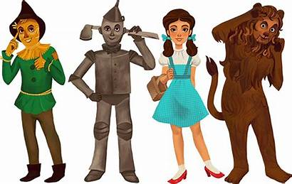 Wizard Oz Characters Clipart Cast Cartoon Drawing