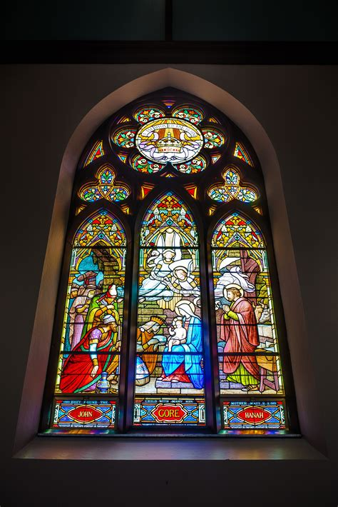 stained glass catholic church windows