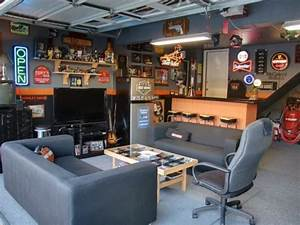 60 cool man cave ideas for men manly space designs With tips to make man cave garage