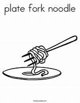 Coloring Noodle Plate Fork Noodles Twisty Built California Usa Twistynoodle sketch template