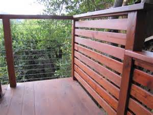 Cable Deck Railing with Wood Posts