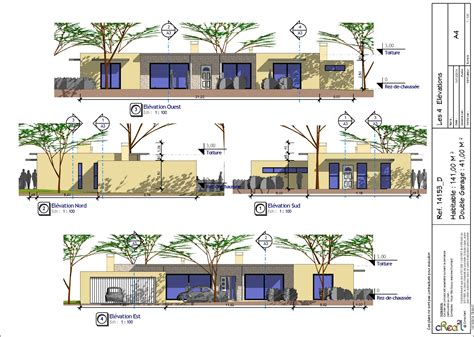 plan de maison plain pied 4 chambres gratuit modeles maisons plain pied contemporaines ventana