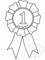 Ribbon Award Template Coloring Drawing Badge Place Pages Templates Clipart Rosette Ribbons Graduation Sketch Getdrawings Preschool Coloringpage Eu sketch template