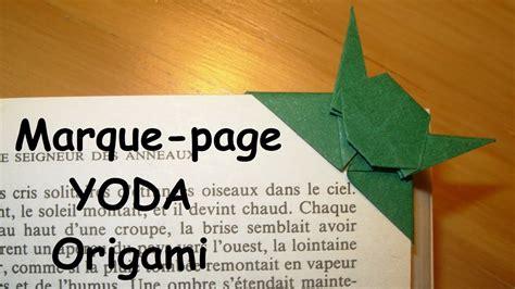 comment faire un origami comment faire un marque page yoda en origami