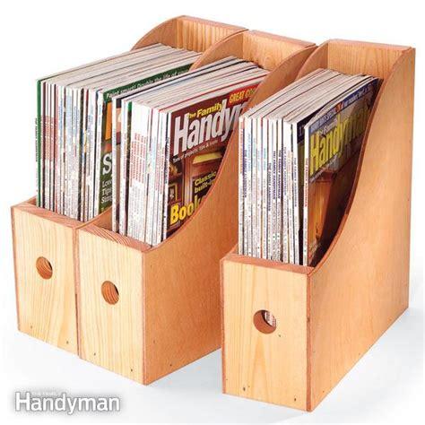 woodwork wood magazine storage  plans
