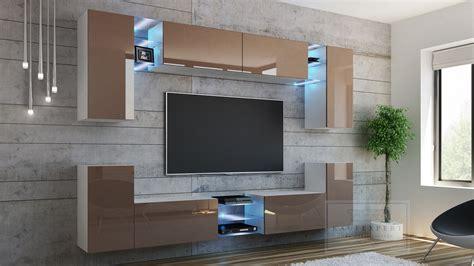 Eine elegante wohnwand mit led beleuchtung würde ihre ansprüche erfüllen, wenn sie ihnnen gleichermaßen platzt moderne module. KAUFEXPERT - Wohnwand Splash Cappuccino Hochglanz/ Weiß ...
