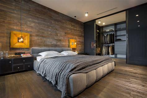 chambre homme beau loft industriel à kiev au design intérieur résolument