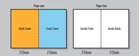 a4 half fold card template folding a3 to a4 landscape grabprinting