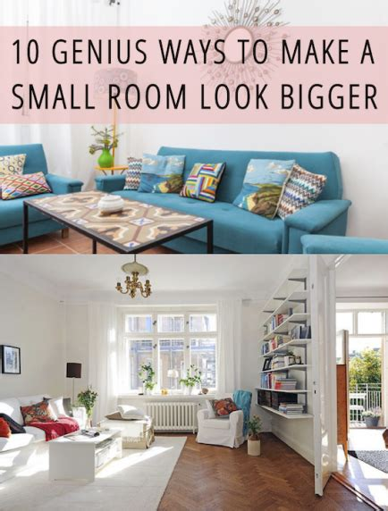 Decorating Ideas To Make A Room Look Bigger by 10 Genius Ways To Make A Small Room Look Bigger