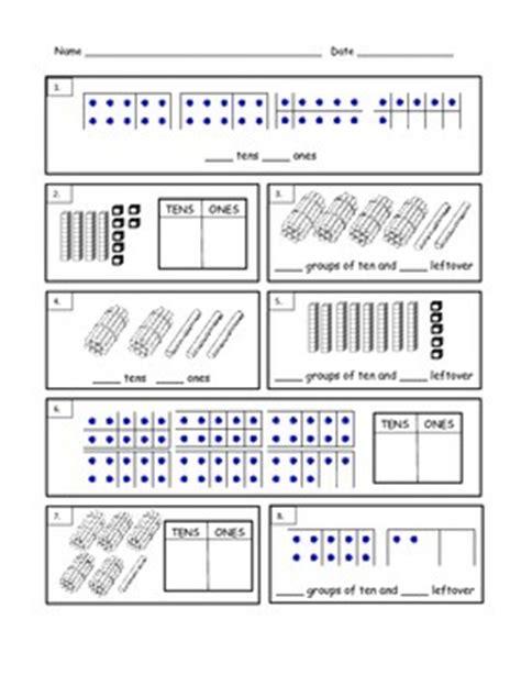 grade tens and ones worksheet by davis tpt