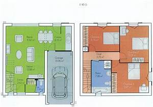 plan maison a etage With plan de maison etage