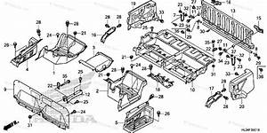 Honda Side By Side 2016 Oem Parts Diagram For Bed Plate