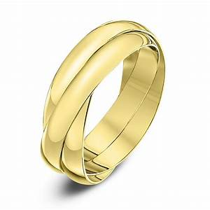 9kt yellow gold 3mm russian wedding ring With gold russian wedding ring