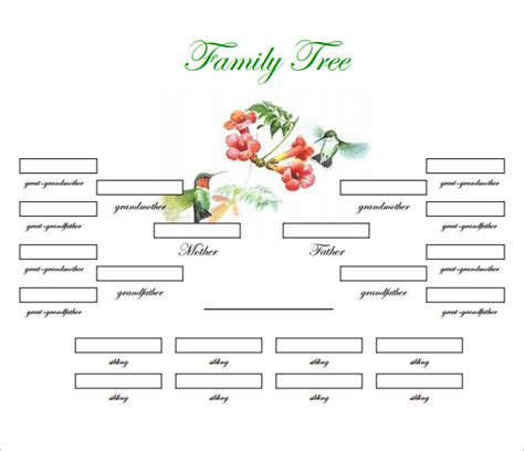 Family Tree Templates With Siblings by Family Tree Template 31 Free Printable Word Excel Pdf