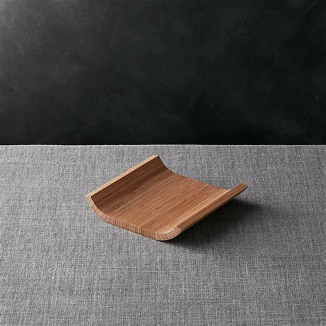 bamboo plate crate  barrel
