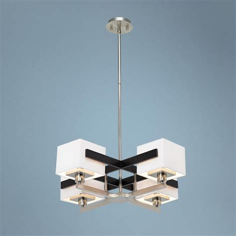 possini design possini euro design mirrored grids metal and wood chandelier libraries products and metals