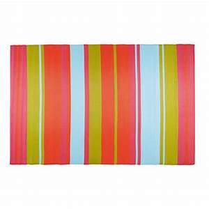 tapis de jardin en tissu raye multicolore 180x270cm With tapis enfant avec canapé capitonné tissu