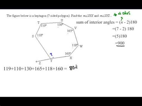 How Many Angles Are On The Interior Of An Octagon by Polygon Angle Sum Irregular Polygon