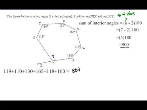 polygon angle sum irregular polygon youtube