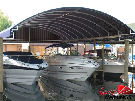 Boat Dock Canopy Covers by Boat Dock Canopy Permanent Steel Dock With Canopy