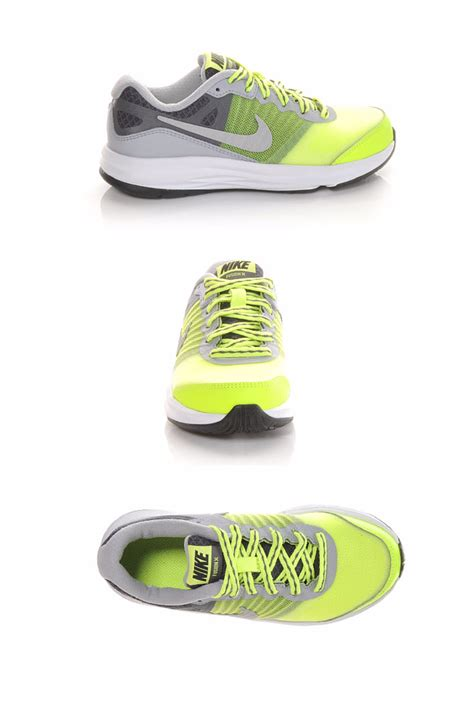 Boys' Nike Dual Fusion X 10.5-3 Grey/Volt/Silve | Shoe ...