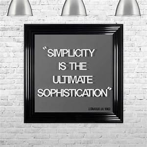 3d, U0026quot, Simplicity, Is, The, Ultimate, Sophistication, U0026quot, Grey, Framed, Wall, Art, By, Shh, Interiors