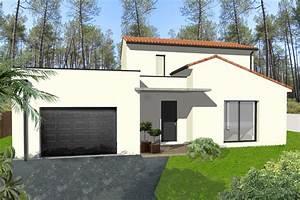 Porche Entrée Maison : maison toit plat traditionnelle 3 chambres crea12 avec ~ Premium-room.com Idées de Décoration