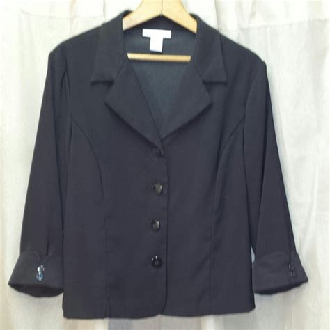 dress barn blazers dress barn dressbarn black blazer from s closet