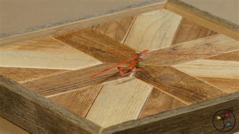 eine wanduhr selber bauen rustikaler  aus altem holz