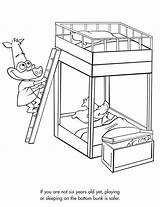 Bed Bunk Coloring Pages Beds Drawing Sketch Sheets Safety Freeprintable Activity Activities Getdrawings Template sketch template