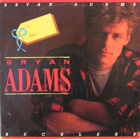 Bryan Adams  Reckless (vinyl, Lp, Album) At Discogs